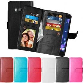 Mobilplånbok Dubbelflip Flexi 9-kort HTC U11 mobilskal skydd väska CaseOnline.se