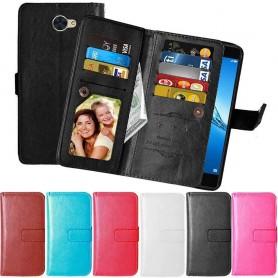 Dubbelflip 9-kort Flexi Huawei Y7 2017 mobilskal caseonline.se