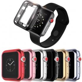 Apple Watch 38mm Bumper Case Metallic Silikonskal skydd till klocka