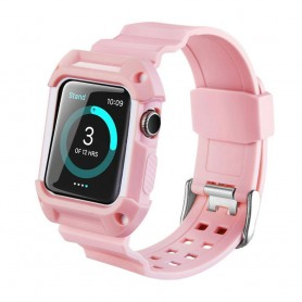Apple Watch 42mm Armor Case med Armband - Rosa