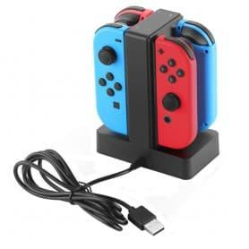 Laddstation för 4 Joy-Con kontroller Nintendo Switch laddare