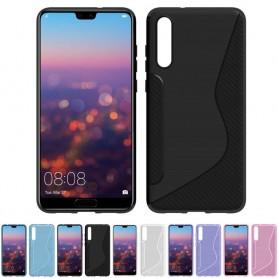 S Line silikon skal Huawei P20 EML-L29 mobilskal skydd CaseOnline