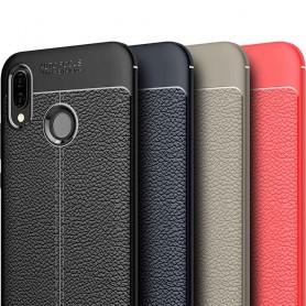 Läder mönstrat TPU skal Huawei P20 Lite mobilskal skydd silikon