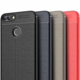 Läder mönstrat TPU skal Huawei P Smart mobilskal silikon
