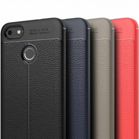 Läder mönstrat TPU skal Huawei P9 Lite Mini mobilskal skydd