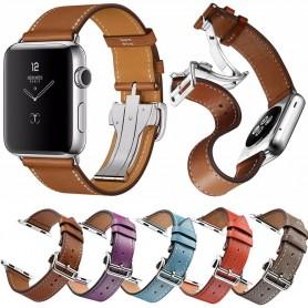 Apple Watch 42mm Exklusivt Läder Armband -  RSF Fjärilsspänne  CaseOnline.se