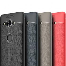 Läder mönstrat TPU skal Sony Xperia XZ2 Compact H8324 mobilskal