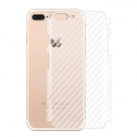 Kolfiber Skin Skyddsplast Apple iPhone 8 Plus mobilskydd