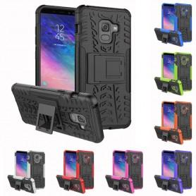 Stöttåligt skal med ställ Samsung Galaxy A6 Plus 2018 mobilskal silikon