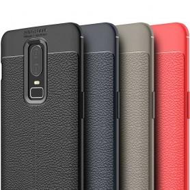 Läder mönstrat TPU skal OnePlus 6 (A6000)