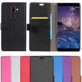 Mobilplånbok 2-kort Nokia 7 Plus mobilskal fodral väska