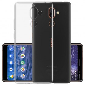 Silikon skal Transparent Nokia 7 Plus mobilskal tpu