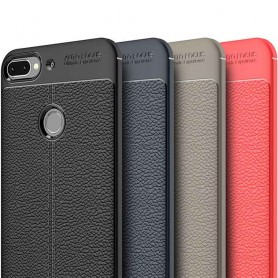 Läder mönstrat TPU skal HTC Desire 12 Plus mobilskal