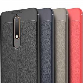 Läder mönstrat TPU skal Nokia 6.1 2018 mobilskal skydd silikon