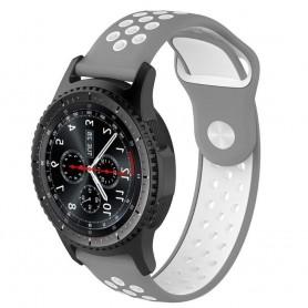 EBN Sport Armband Samsung Gear S3 grå/vit CaseOnline silikon
