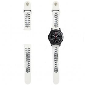 EBN Sport Armband Samsung Gear S3 vit/svart silikonarmband caseonline