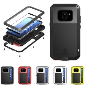 LOVE MEI Powerful Samsung Galaxy A8 2018 stålskal lifeproof caseonline