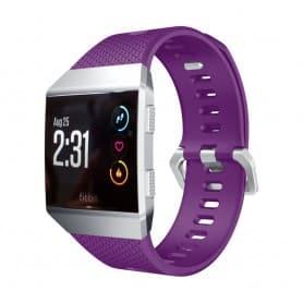 Sport Armband Fitbit Ionic Lila L silikon smartwatch tillbehör