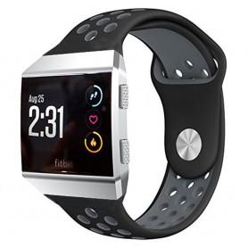 EBN Sport Armband-Fitbit-Ionic-Svart-Grå-silikon-band-caseonline-se