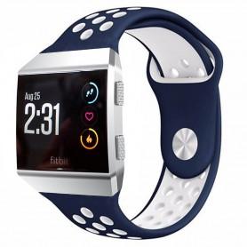 EBN Sport Armband Fitbit Ionic Blå-Vit