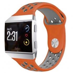 EBN Sport Armband Fitbit Ionic Orange-Grå