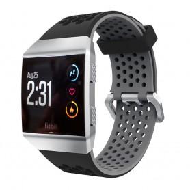 Hole Sport Armband Fitbit Ionic dubbel spänne - Svart-Grå