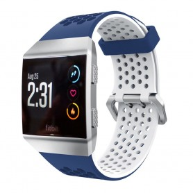 Hole Sport Armband Fitbit Ionic - Blå-Vit