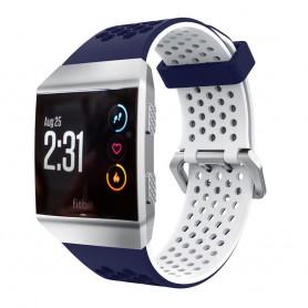 Hole Sport Armband Fitbit Ionic - MBlå-Vit