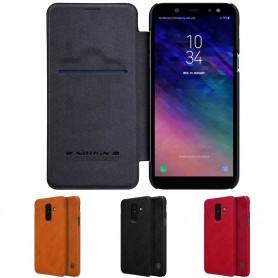 Nillkin Qin FlipCover Samsung Galaxy A6 Plus 2018 mobilskal skydd