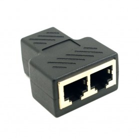 LAN Adapter CAT6 RJ45 hona - 2x hona