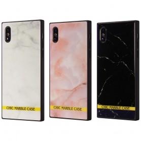 Chic marmor mobilskal av härdat glas Apple iPhone X CaseOnline