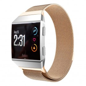 Milanese RSF stål Armband Fitbit Ionic - Rosè