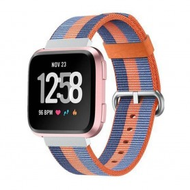 Nylon Armband till Fitbit Versa - Orange