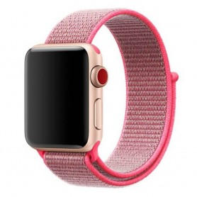 Apple Watch 42mm Nylon Armband - Rosa