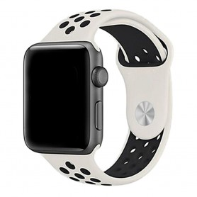 Apple Watch 42mm Sport Armband Vit/svart