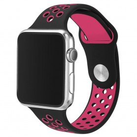 Apple Watch 42mm Sport Armband Svart/rosa