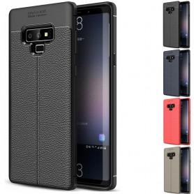 Läder mönstrat TPU skal Samsung Galaxy Note 9 (SM-N960F)