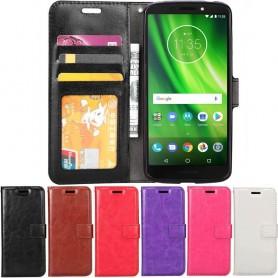 Mobilplånbok 3-kort Motorola Moto G6 Play mobilskal fodral
