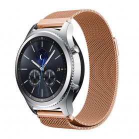 Rosè färgat armband Milanese magnetic Samsung Gear S3 Frontier - S3 Classic