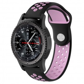 EBN Sport Armband Samsung Gear S3 Svart/rosa