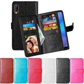 Dubbelflip Flexi 9-kort Huawei P20 mobilskal plånbok