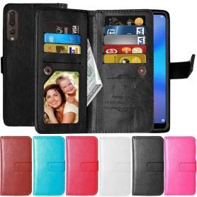 Dubbelflip Flexi 9-kort Huawei P20 Pro mobilplånbok mobilskal fodral