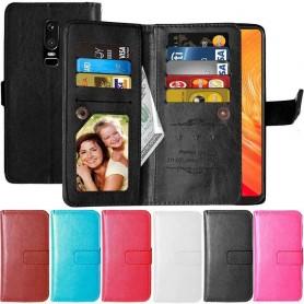 Dubbelflip Flexi 9-kort OnePlus 6 mobilplånbok fodral mobilskal