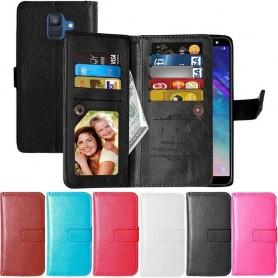 Dubbelflip Flexi 9-kort Samsung Galaxy A6 2018 mobilskal plånbok fodral