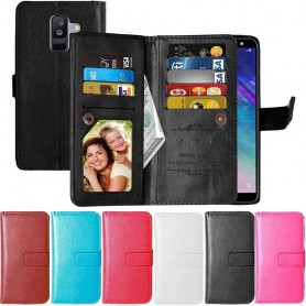 Dubbelflip Flexi 9-kort Samsung Galaxy A6 Plus 2018 mobilskal fodral plånbok