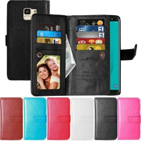 Dubbelflip Flexi 9-kort Samsung Galaxy J6 2018 mobilskal plånbok fodral