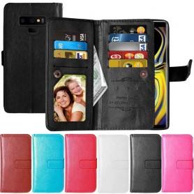 Dubbelflip Flexi 9-kort Samsung Galaxy Note 9 mobilskal fodral väska