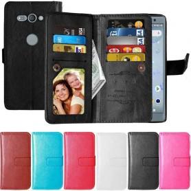 Dubbelflip Flexi 9-kort Sony Xperia XZ2 Compact mobilskal fodral väska