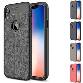 "Läder mönstrat TPU mobilskal Apple iPhone XR (6.1"")"