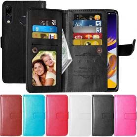 Dubbelflip Flexi 9-kort Asus Zenfone 5 / 5Z mobilskal fodral plånbok